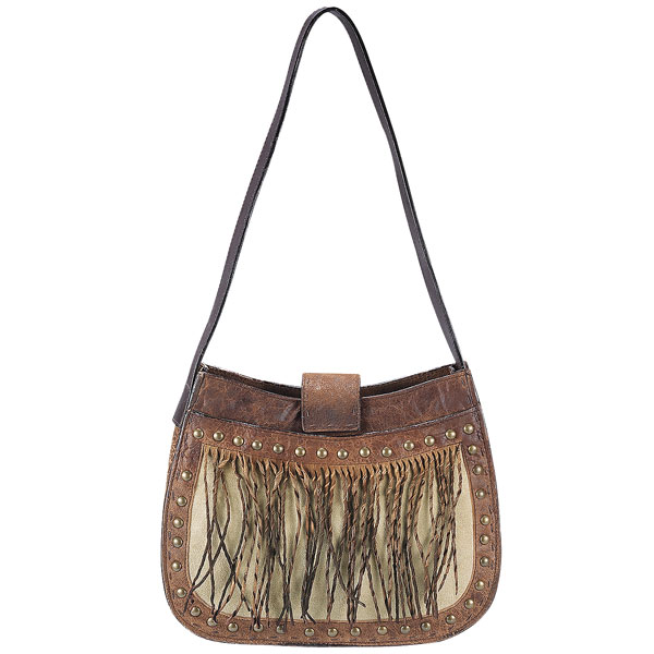 Cow Hide Fringe Shoulder Bag